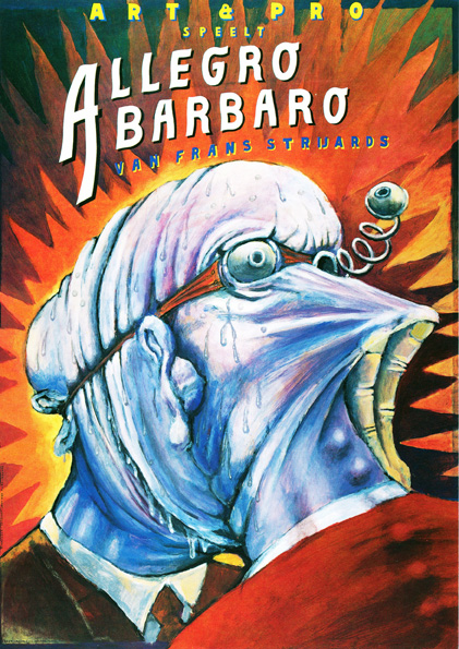 Poster Allegro Barbaro. Design Frits van Hartingsveldt. Silkscreen, A0, A1. 1993.
