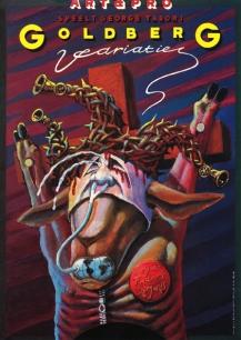 Poster Goldberg Variaties. Design Frits van Hartingsveldt. Silkscreen, A0, A1. 1995.