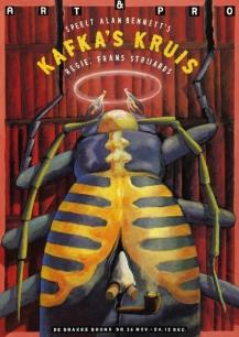 Poster Kafka's Kruis. Design Frits van Hartingsveldt. Silkscreen, A0, A1. 1992.