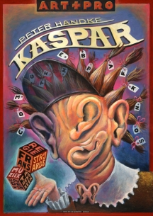 Poster Kaspar. Design Frits van Hartingsveldt. Offset, A0, A1. 1997.