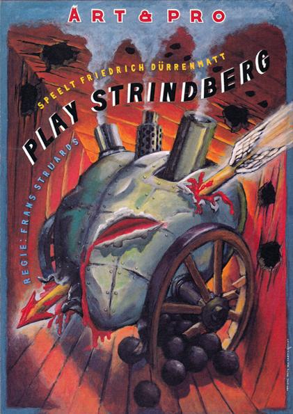 Poster Play Strindberg. Design Frits van Hartingsveldt. Silkscreen, A0, A1.