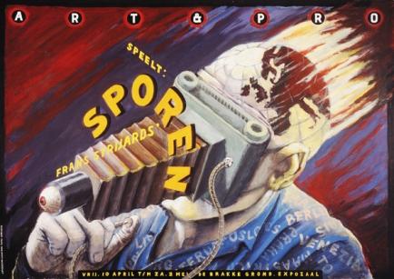Poster Sporen. Design Frits van Hartingsveldt. Silkscreen, A0, A1.