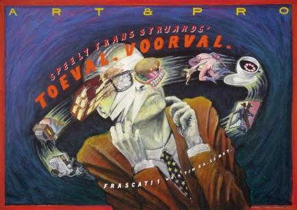 Poster Toeval Voorval. Design Frits van Hartingsveldt. Silkscreen, A0, A1. 1991.