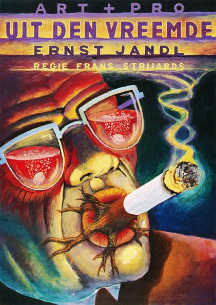 Poster Uit de Vreemde. Design Frits van Hartingsveldt. Silkscreen, A0, A1. 1996.