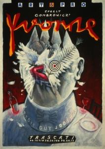 Poster Yvonne. Design Frits van Hartingsveldt. Silkscreen, A0, A1. 1991.